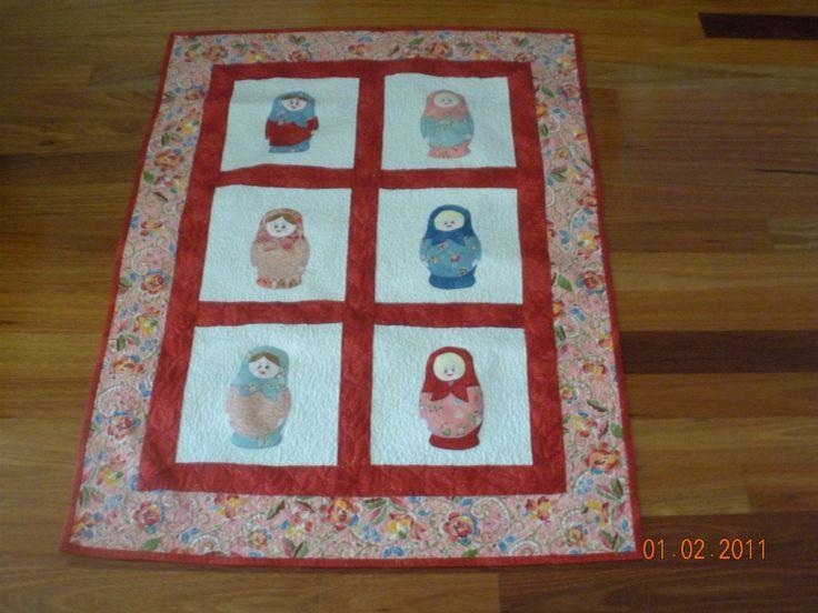 Baboushkas - own design, cot quilt for Amelie.