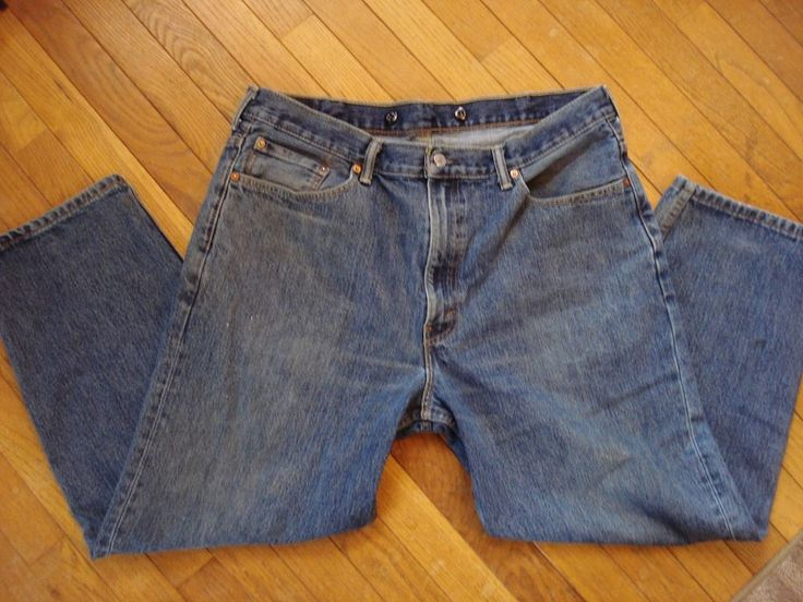 VINTAGE LEVIS 550 Jeans WITH SUSPENDERS BUTTONS Size 40 X 29 Actual 39 x 27.5 #Levis #ClassicStraightLeg