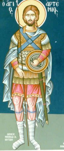 Iconography - Byzantine icons - eikonografos.com - ΑΛΜΠΟΥΜ ΑΓΙΟΓΡΑΦΙΑΣ/ΑΓΙΟΣ ΑΡΤΕΜΙΟΣ - ST. ARTEMIOS