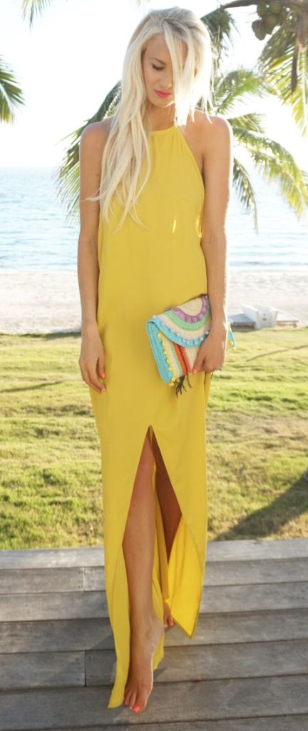 Jamaica inspired. Love bright color and sass. It's flowy but still close to body