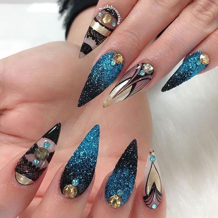 17 best ideas about stiletto nail art on pinterest