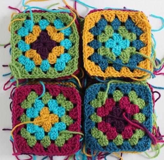 Crochet Granny Squares for a Blanket