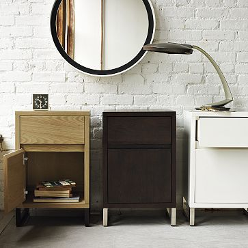 Hudson Nightstand #WestElm  Goes perfectly with my asymmetrical closet from cb2!