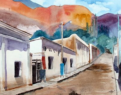 """Check out new work on my @Behance portfolio: """"Watercolor - Purmamarca, Jujuy"""" http://be.net/gallery/38636019/Watercolor-Purmamarca-Jujuy"""
