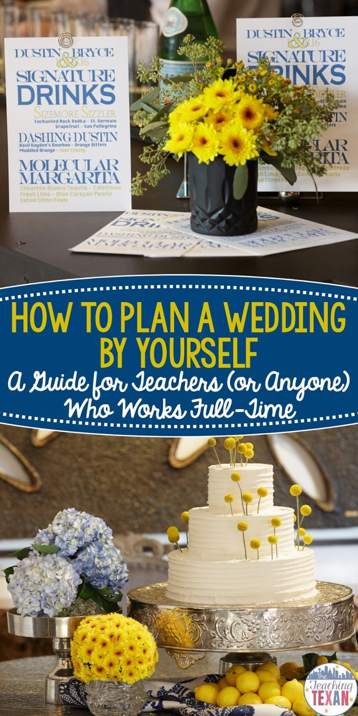 Are you a teacher (or anyone for that fact) who works full time and needs help planning a wedding?  These are my favorite tips and ideas to plan a wedding by yourself in a year or less while still working and on a budget!