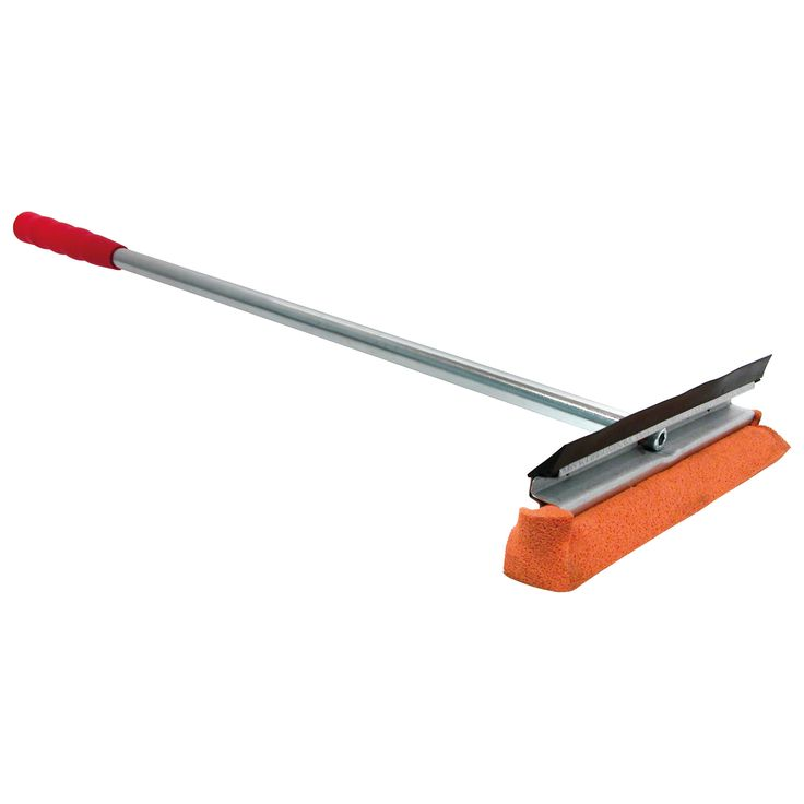 12 Window Squeegee Washer Scrubber Cleaner Wiper With 20 Red Wooden Handle Ideal For Auto