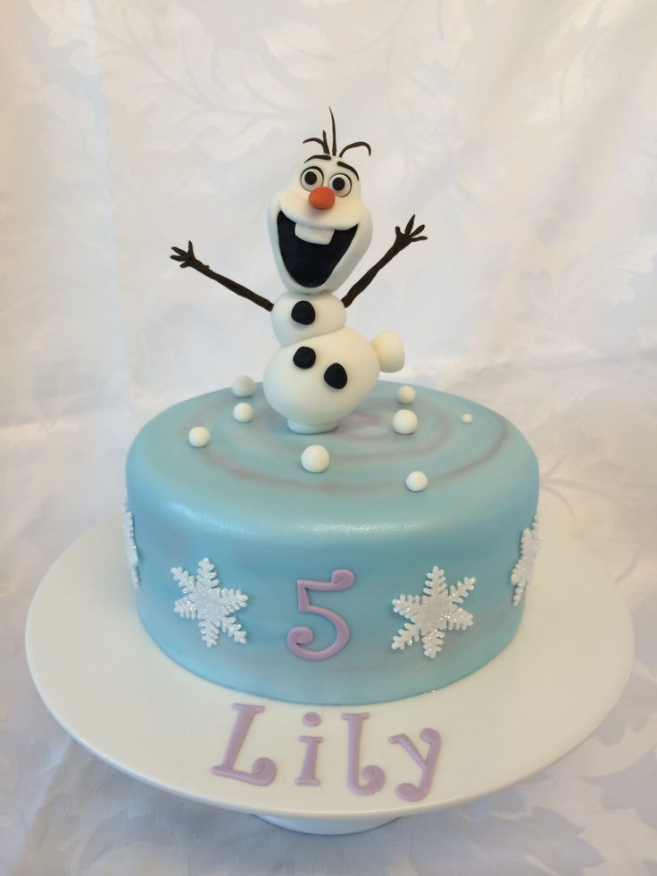Single tier Olaf snowman from Frozen cake   cakes ...