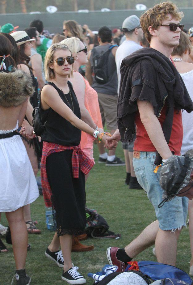 Emma Roberts and Evan Peters - Festival Look