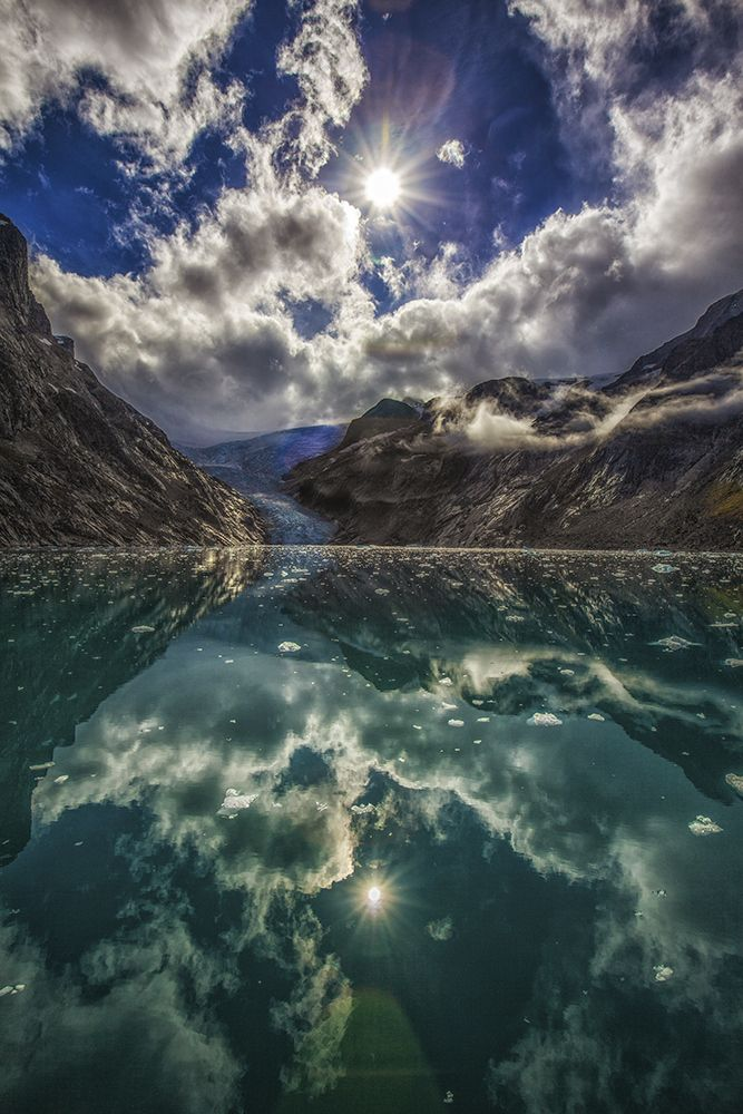 Reflections in a fjord on Dave and Deb's expedition in Greenland, by Dave Bouskill