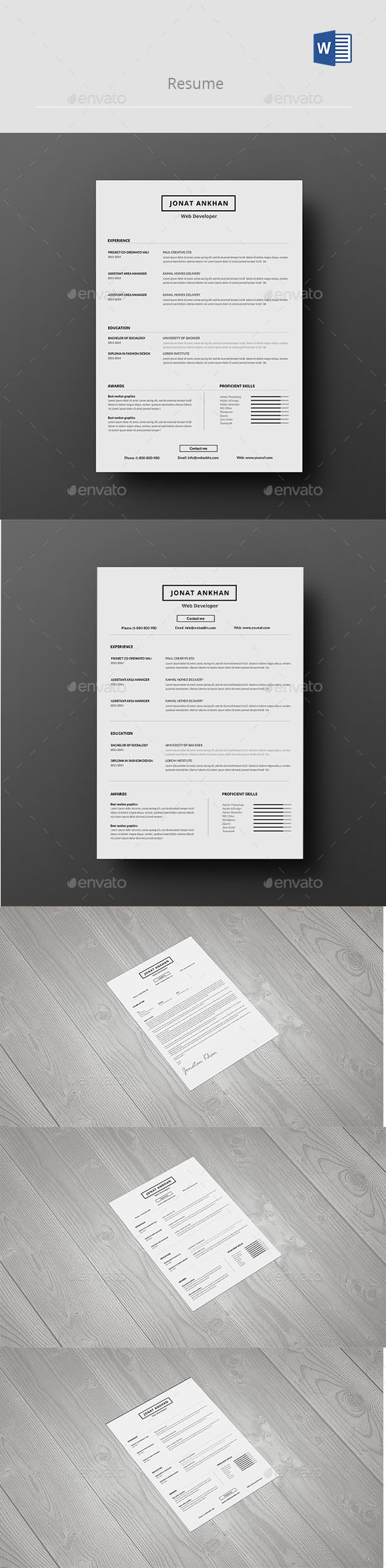 Resume Photoshop Psd Stylish Resume Template