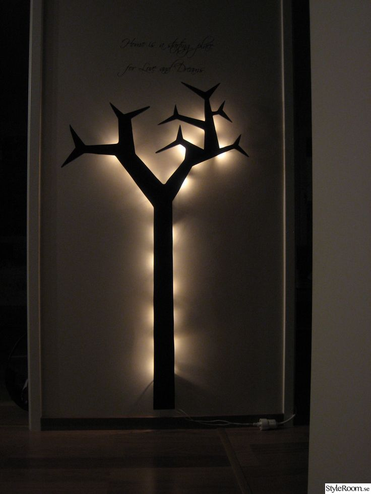 träd,belysning,hemmagjord,mdf,svart,pyssel
