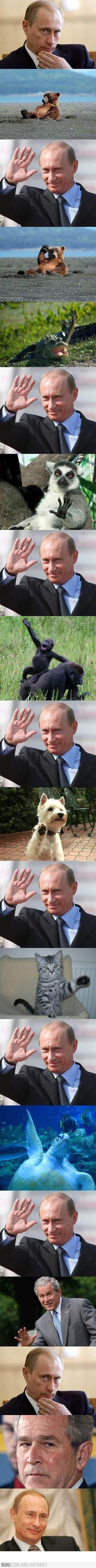 Friendly Putin. lol
