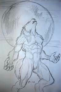 A Werewolf tattoo sketch