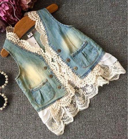 Denim and Lace Vest                                                                                                                                                                                 More