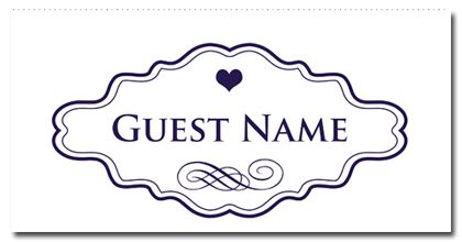 Classic SuiteGuest Place Card - paper, seed, place, cards, printed, plain, add, ... - EcoCelebrations