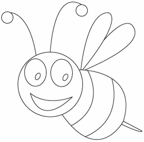 Free Animals Bee Printable Coloring Pages For Preschool