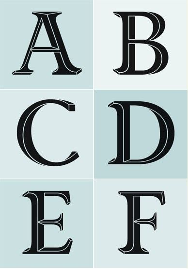 Priori Acute Font: Jonathan Barnbrook experiments with three-dimensional letter form design. #typography