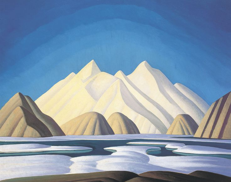 Abstract landscapes by The Group of Seven member Lawren Harris