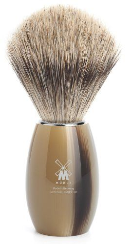 MÜHLE – Rasierpinsel Feines Dachshaar – MODERN Serie – Griff Edelharz hornbraun | Your #1 Source for Beauty Products