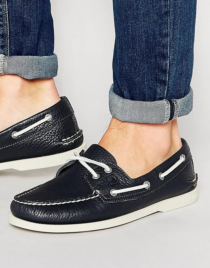 iconische Sperry  Topsider Leather Boat Shoes (Blauw)