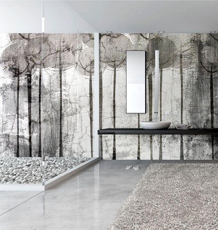 Wall Covering Suitable To Bathrooms Salle De Bains Papier Peint Revetement Mural Parement Mural