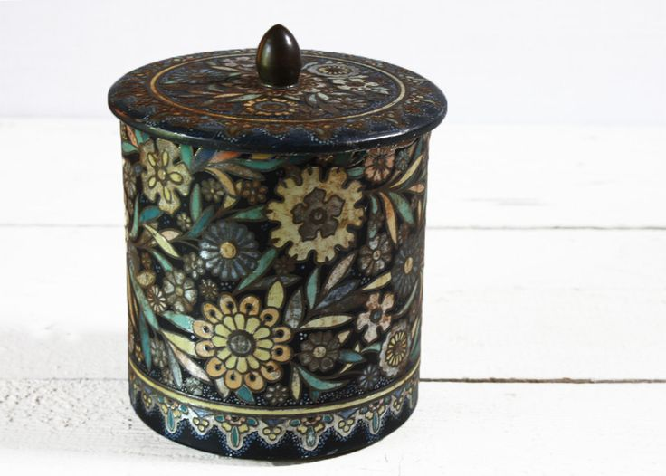 OLd DutchTIN BOX Shabby chic by RueDesLouves on Etsy