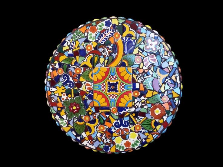 15 Inch Southwestern Mosaic Lazy Susan Turn Table Kitchen Decor Made With Talavera Tiles. $175.00, via Etsy.