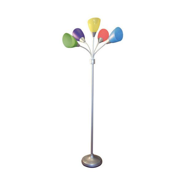 Nice Silver Colorful Floor Lamp ($70) ❤ Liked On Polyvore Featuring Home,  Lighting,