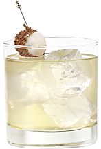 Asian Punch: sake + lychee liqueur + vodka + white cranberry juice + lychee juice + ginger syrup