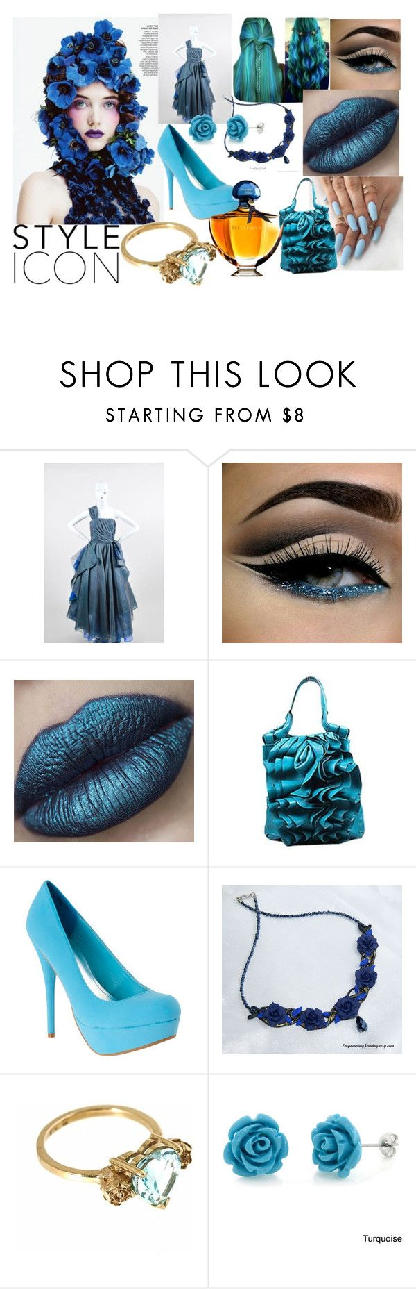 """""""The Blue Rose"""" by sabine-rainhart on Polyvore featuring Peter Som, Valentino, Metal Couture, Eternally Haute and Guerlain"""