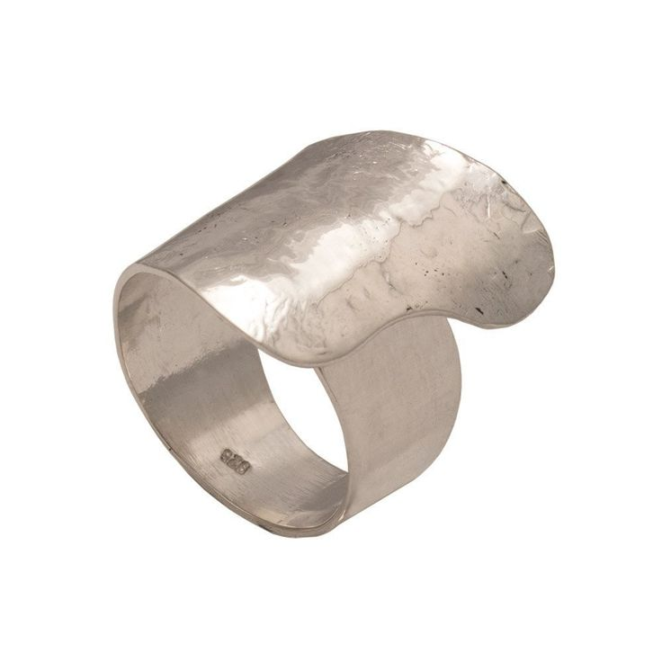 Contemporary wide ring, Ring in Sterling Silver