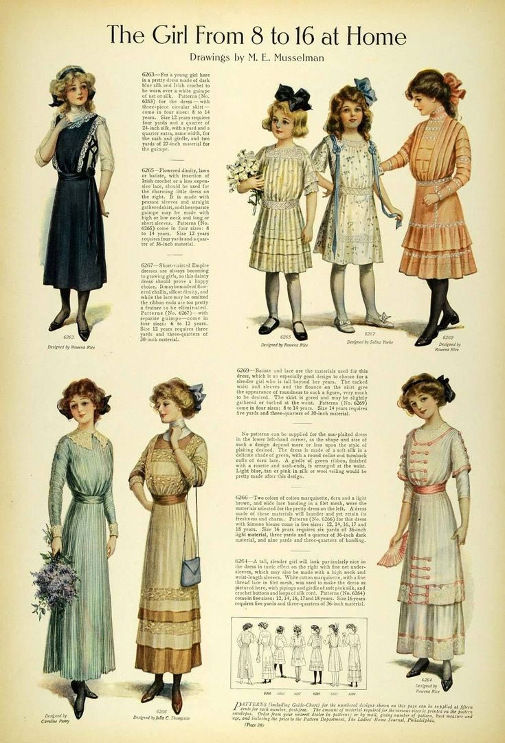 1911 Article Edwardian Fashion Children School Clothes Girls Dresses Accessories | eBay