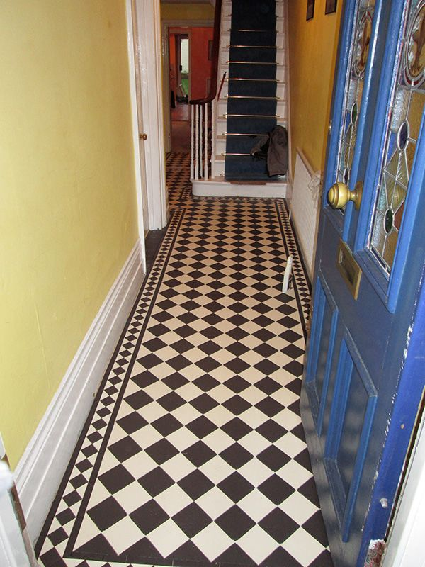 victorian tiled black and white