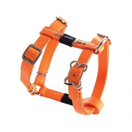 Rogz Lapz Luna Dog Harness Orange - Medium