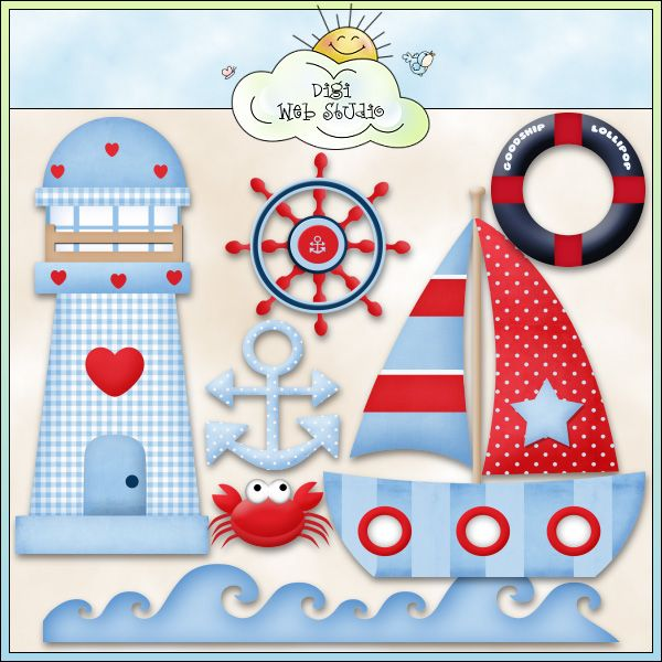 Good Ship Lollipop Sea 1 - NE Kristi W. Designs Clip Art : Digi Web Studio, Clip Art, Printable Crafts & Digital Scrapbooking!
