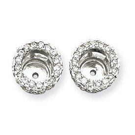 14K White Gold 5/8 Carat Diamond Earring Jackets Bijou. $1024.56