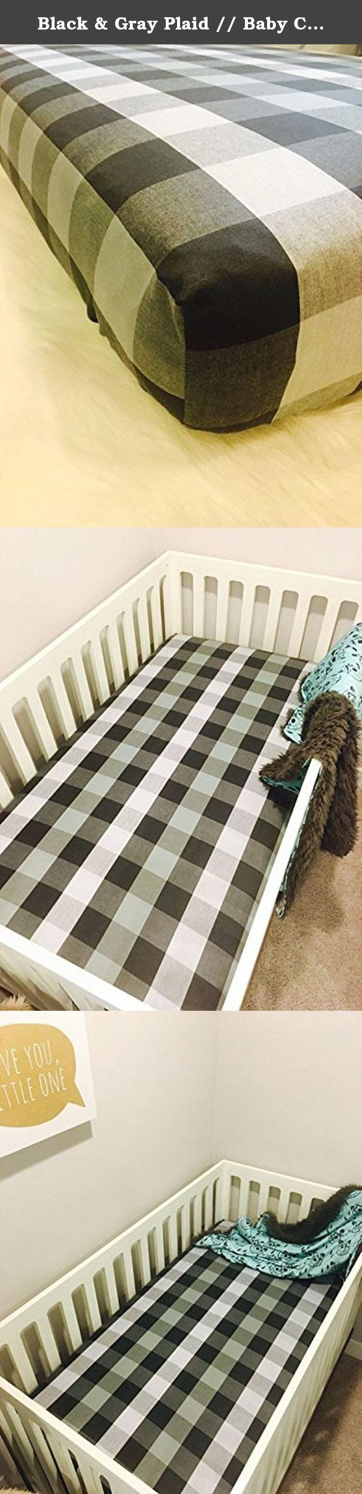 Baby crib mattress frame - Black Gray Plaid Baby Crib Sheet Baby Bedding Our Sheets