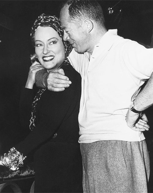 Gloria Swanson and Billy Wilder on the set of Sunset Boulevard, 1950