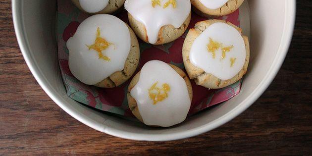 Citronmuffins med glasur