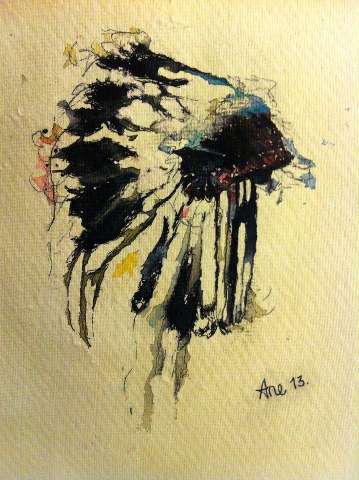 """Akvarell  """"Eagle"""""""
