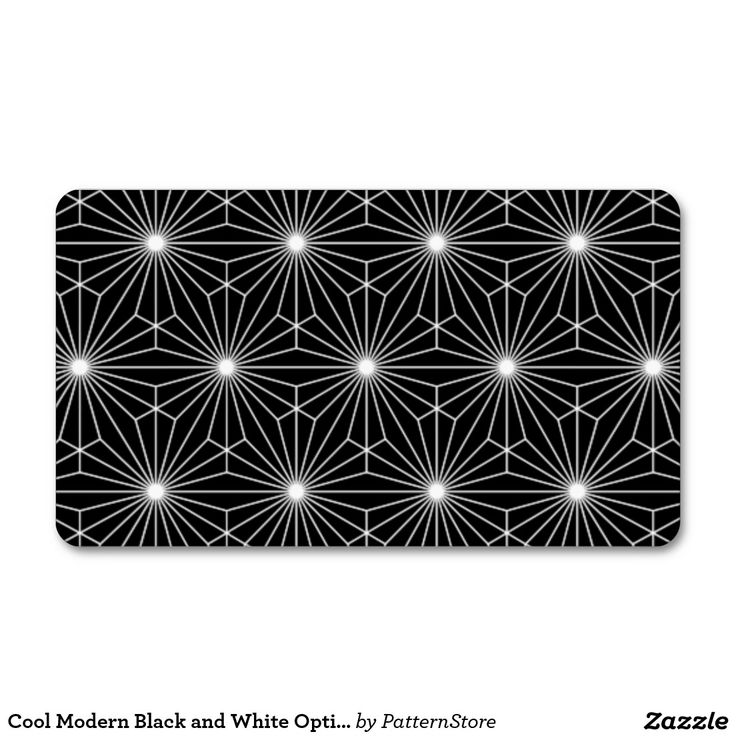 Cool Modern Black and White Optical Illusion Double-Sided Standard Business Cards (Pack Of 100)