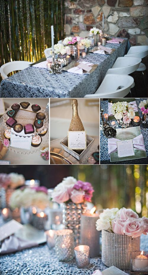 Dinner Party Tablescape ideas (Birthday, bridal shower, anniversary).