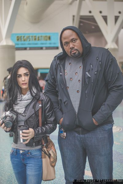 Jessica Jones and Luke Cage (MARVEL) #cosplay | LA Comic Con 2016, Photo by DTJAAAAM