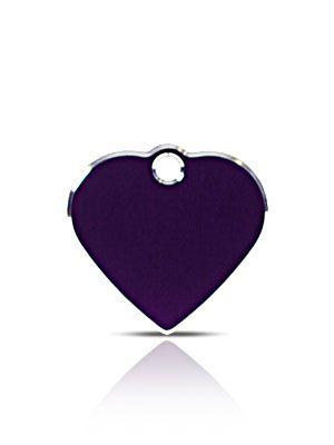 Hi-Line alumiini nimilaatta pieni sydän violetti