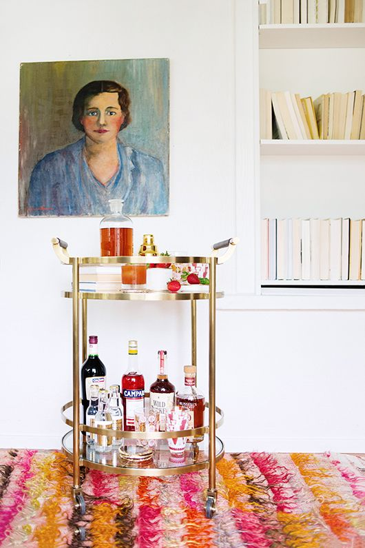 cheers to mothers from @womenanwhiskies + a williams-sonoma bar cart and love & victory decanter set giveaway.