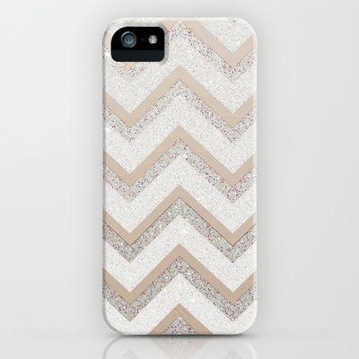 NUDE CHEVRON iPhone & iPod Case #chevron #glitter #silver #nude #gold #sparkles #iphonecase #iphone