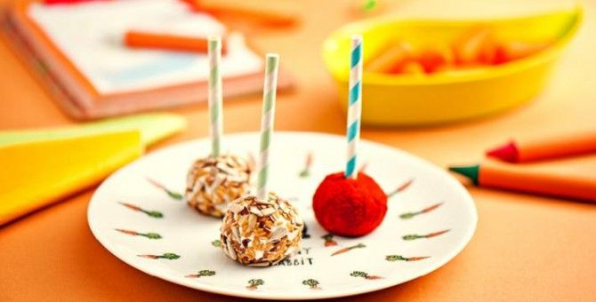 Cheese lollipops for children