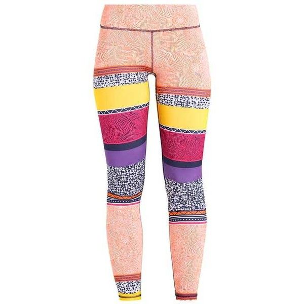 ALL EYES ON ME Tights orange clown fish/electric purple featuring polyvore women's fashion clothing intimates hosiery tights fish stocking purple tights purple pantyhose orange stockings orange tights