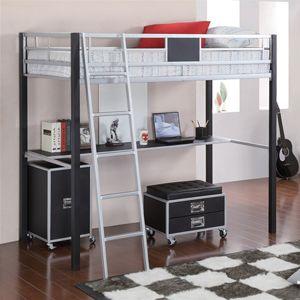 twin metal loft bed with desk 460281cofs httpwww