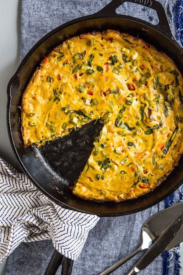 Tofu Frittata with Spinach & Peppers